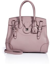 8632fac6c370 Ralph Lauren Collection - Leather Soft Ricky Tote - Lyst