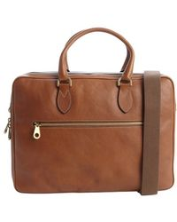Mulberry Oak Brown Leather Heathcliffe Convertible Briefcase - Lyst