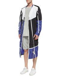 Maison Margiela Colorblock Nylon Long Jacket - Lyst