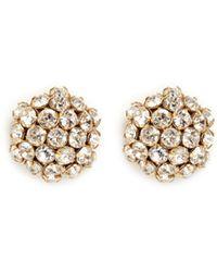 Miriam Haskell Crystal Cluster Stud Earrings - Lyst