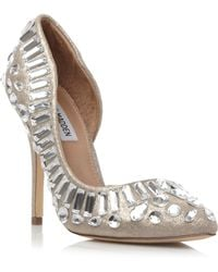 Steve Madden Galactik Embellished Semi D'Orsay Court Shoes - For Women - Lyst