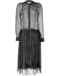 Preen Metallic Silk Blend Orion Dress - Lyst