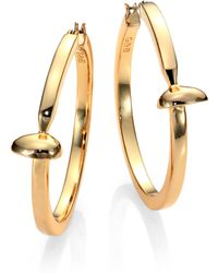 Giles & Brother Railroad Spike Hoop Earrings2 - Lyst