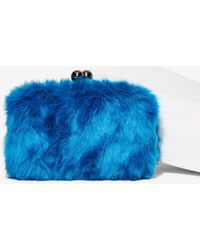 Nila Anthony - Cookie Monster Faux Fur Clutch - Lyst 41b3d83b43