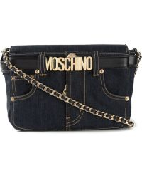 Moschino Denim Logo Crossbody Bag - Lyst