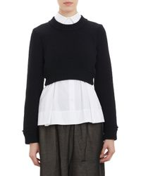 Comme Des Garçons Cropped Pullover Sweater - Lyst
