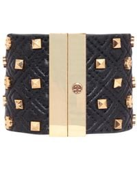 Tory Burch Leather Bracelet With Studs - Lyst