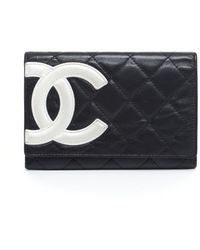 Chanel Pre-owned Lambskin Cambon Ligne Pouch Wallet - Lyst