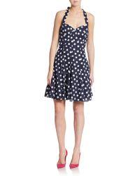 Betsey Johnson Polka Dot A-Line Dress blue - Lyst