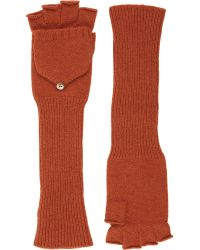 Barneys New York | Fingerless Convertible Mittens | Lyst