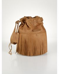 Ralph Lauren Large Fringed Hobo Bag - Lyst