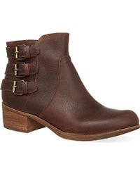 Ugg Volta Leather Ankle Boots - For Women - Lyst