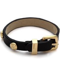Marc By Marc Jacobs Screw Leather Bracelet Black - Lyst