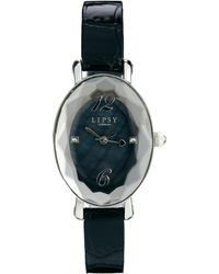 Lipsy | Black Strap Watch with Black Dial | Lyst