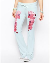 Wildfox Orchid Twins Tennis Club Track Pants - Lyst