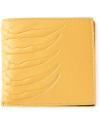 Alexander McQueen Ribcage Billfold Wallet - Lyst