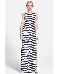 Rachel Zoe Women'S 'Pomme' Print Crepe Maxi Dress - Lyst