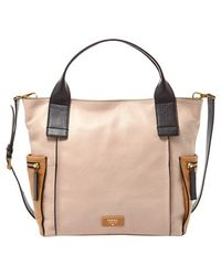 Fossil 'Emerson' Colorblock Leather Satchel - Lyst