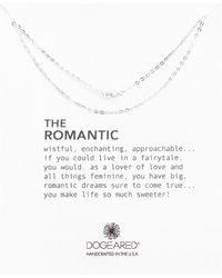 Dogeared - Romantic 3mm Cultured Pearl And Sterling Silver Necklace - Lyst