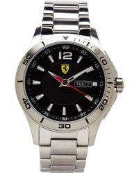Scuderia Ferrari - 830094 Silver-Tone & Black Watch - Lyst