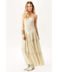 Jen's Pirate Booty Cherokee Rose Maxi Dress beige - Lyst