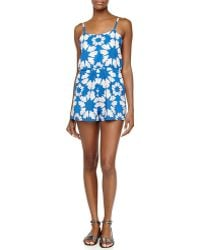 Alice + Olivia - Floral-print Flutter Short Jumpsuit - Lyst
