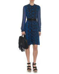 Proenza Schouler Python-Print Pleated Silk Dress - Lyst