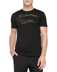 Alexander McQueen Zipperlogo Printed Tee - Lyst