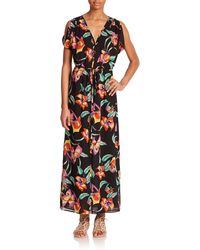 Joie Lunaria Silk Dress floral - Lyst
