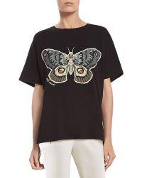 Gucci Kris Knight Butterfly Print T-shirt - Lyst