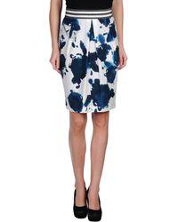 Blue Les Copains Knee Length Skirt - Lyst