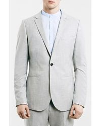 Topman Light Grey Skinny Fit One-Button Suit Jacket gray - Lyst