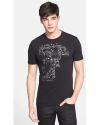 Versace 'Half Medusa' Embellished T-Shirt black - Lyst