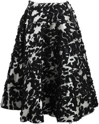 Lanvin Full Skirt with Fitted Waist - Lyst