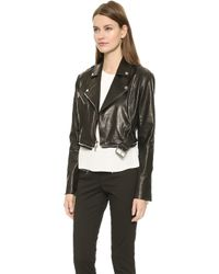 Veronica Beard Zip Off Moto Jacket - Black - Lyst