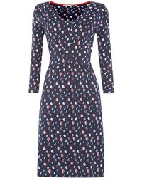 Dickins & Jones Floral Print Jersey Dress - Lyst
