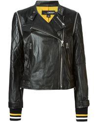 DKNY Biker Jacket - Lyst