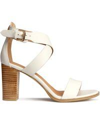 H&M Sandals white - Lyst