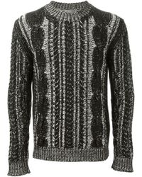 Dior Homme Cable Knit Sweater - Lyst