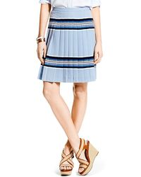 Tommy Hilfiger Aztec Stripe Pleated Skirt - Lyst