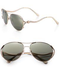 Roberto Cavalli Glam 58Mm Aviator Sunglasses - Lyst