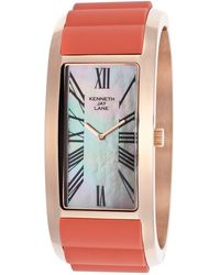 Kenneth Jay Lane - Breakers Gold-tone Ss And Red Silicone Mop Dial - Lyst