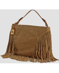 Ralph Lauren Lauren Hobo Faulk Large Fringed - Lyst