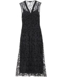 Burberry Prorsum Black Lace Dress - Lyst