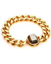 House Of Lavande Batari Pyrite Chain Bracelet gold - Lyst
