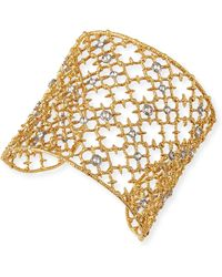 Alexis Bittar Gilded Muse Dore Crystal-studded Cuff Bracelet - Lyst