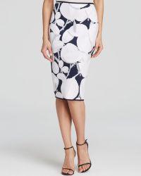Cynthia Rowley Pencil Skirt - Slim Printed - Lyst
