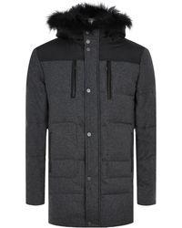 Yves Salomon Fur Trim Wool-Blend Coat - Lyst