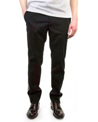 Raf Simons | Black Wool Lateral Stripes Trousers | Lyst