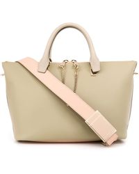 Chloé Baylee Bi-colour Leather Tote - Lyst